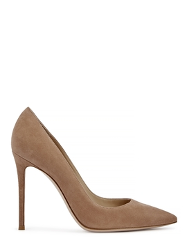Camoscio 105 Blush Suede Pumps by Gianvito Rossi