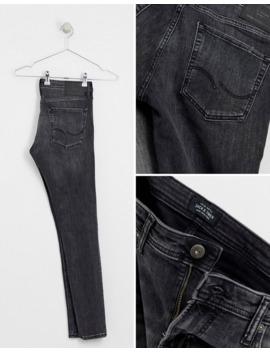 Jack &Amp; Jones Skinny Fit Jeans In Washed Black by Jack & Jones