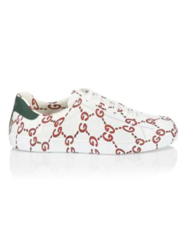 New Ace Gg Leather Sneakers by Gucci