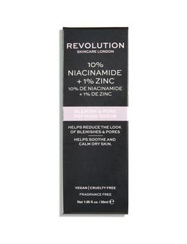 Revolution Skincare 10% Niacinamide + 1% Zinc Blemish & Pore Refining Serum 30ml by Revolution