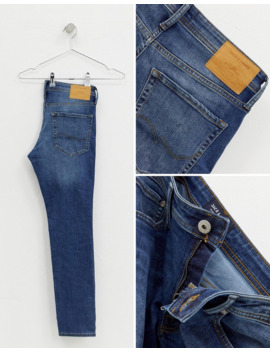 Jack &Amp; Jones Skinny Fit Jeans In Mid Blue by Jack & Jones