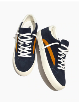 Men's Sidewalk Low Top Sneakers In Colorblock Suede by Madewell