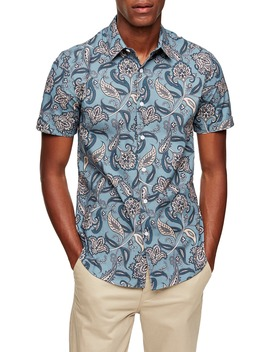 Paisley Short Sleeve Button Up Shirt by Topman