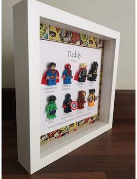 Daddy Your My Our Favourite Hero Marvel Lego Superhero Gift Frame by Etsy