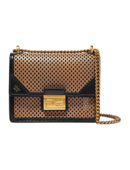 Kanu Small Perforated Leather Shoulder Bag by Fendi