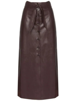 Belted Buttoned Midi Skirt by Nanushka