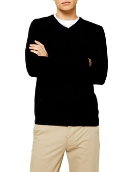 Classic Fit V Neck Sweater by Topman