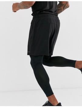 Asos 4505 Running 2 In 1 Running Shorts And Leggings In Black by Asos 4505