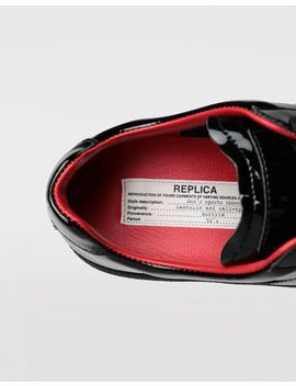 Replica Patent Leather Sneakers by Maison Margiela
