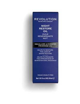 Revolution Skincare Night Restore Oil   Squaline & Evening Primrose Oil by Revolution