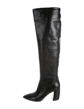 Leather Over The Knee Boots by Prada