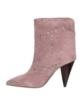Lisbo Studded Suede Ankle Boots by Isabel Marant