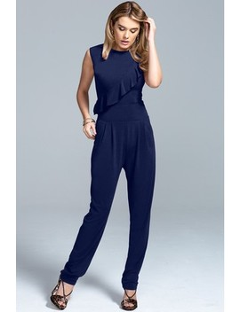 Hot Squash Navy Frill Jumpsuit by Next