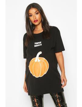 Maternity 'pumpkin Smuggler' Halloween T Shirt by Boohoo