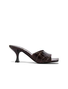 Mr Big Heel In Brown Croc by Jeffrey Campbell