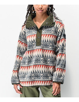 Element And Chill Grey Polar Fleece Sweatshirt by Element