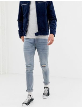 D Struct   Jeans Skinny Azzurri Con Strappi Alle Ginocchia by Asos