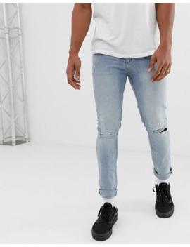 Cheap Monday   Jeans Stretti Con Strappi Alle Ginocchia by Cheap Monday