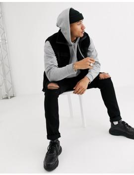Asos Design Oversized Longline Hoodie In Grey Marl by Asos Design