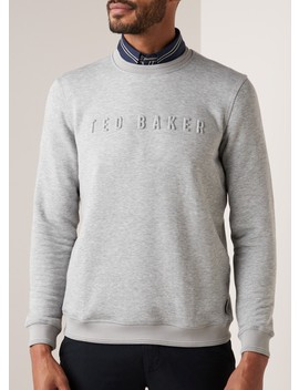 Bizare Sweater Met 3 D Logoprint by Ted Baker