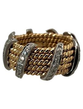 Five Row Diamond Bar Rope Ring by Tiffany & Co.