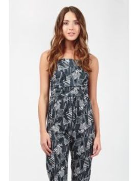 Mono Abstract Strapless Jumpsuit by Select