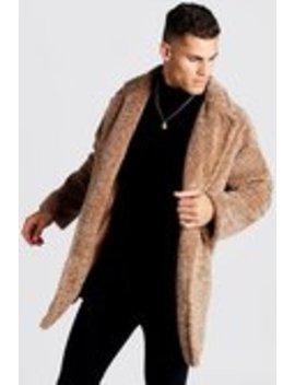 Oversized Luxe Faux Fur Overcoat by Boohoo Man