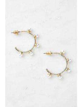 Pearl Hoop Earrings by Urban Outfitters