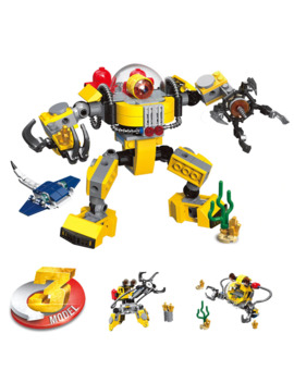 Creator 3in1 Underwater Robot Crane Building Blocks Kit Bricks City Classic Model Kids Toys For Children Gift by Ali Express.Com