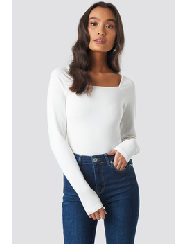 Square Shape Top Weiß by Na Kd Trend