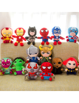25cm Marvel Avengers 4 Superhero All Staff Plush Toy Dolls Captain America Ironman Iron Man Spiderman Loki Thor Plush Soft Toy by Ali Express.Com