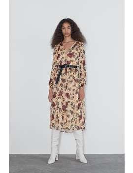 Sukienka Średniej DŁugoŚci Z Nadrukiem by Zara