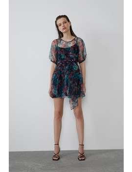 Sukienka Z Organzy O Szerokim Kroju by Zara