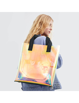 2019 Spring And Summer New Transparent Rainbow Shoulder Bag Tote Large Capacity Bag by Ali Express.Com