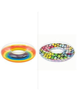 Bestway Inflatable Clear Tech Swim Ring   Assorted* by Bestway