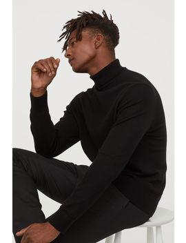 Плетен пуловер с поло яка by H&M
