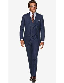 Washington Blue Bird's Eye Suit by Suitsupply