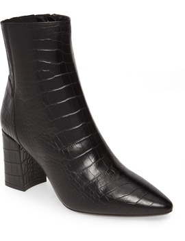 Posey Water Resistant Croc Embossed Bootie by Aquatalia