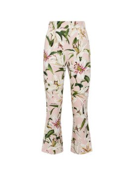 Lily Print Trousers by Dolce & Gabbana