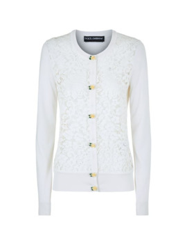 Lace Panel Cardigan by Dolce & Gabbana