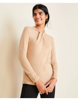 Twist Neck Long Sleeve Top by Ann Taylor