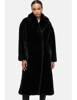 Sasha Faux Fur Coat   Black by Anine Bing
