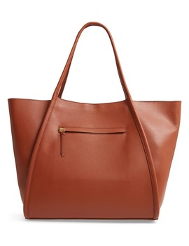 Oversize Leather Tote by Nordstrom