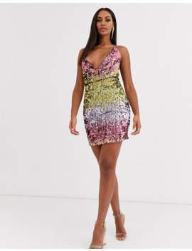 Love & Other Things Sequin Halter Neck Dress by Asos