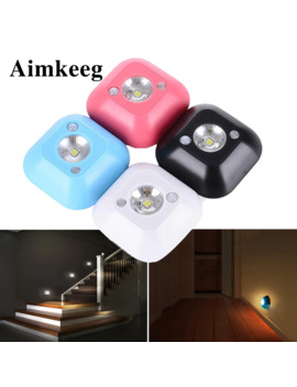 Aimkeeg Mini Wireless Led Sensor Night Light Lamp Pir Infrared Motion Activated Sensor Light For Wall Lamp Cabinet Stairs Light by Ali Express.Com