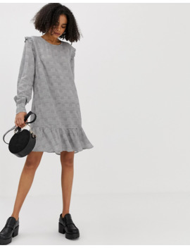 Minimum Gingham Drop Hem Dress by Asos