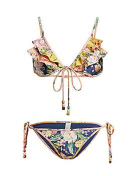 Zinna 2 Piece Floral Triangle Bikini by Zimmermann