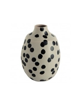 Black And Off White Spotty Vase Black And Off White Spotty Vase by Ruby                         Ruby