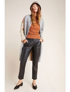 Bagatelle Tapered Leather Trousers by Bagatelle