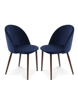 Poly And Bark Sedona Velvet Dining Chair (Set Of 2)   Space Blue by Poly And Bark